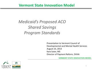 Vermont State Innovation Model