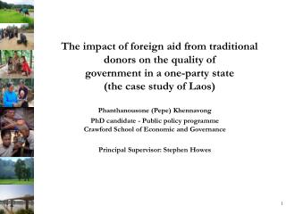 The impact of foreign aid from traditional donors on the quality of government in a one-party state  (the case study of