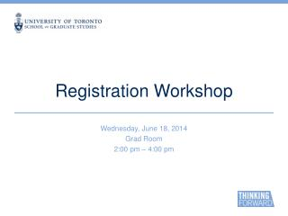 Registration Workshop