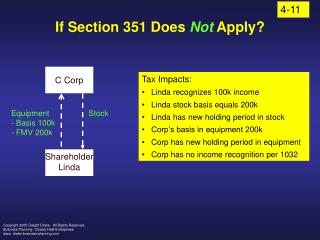 If Section 351 Does  Not  Apply?