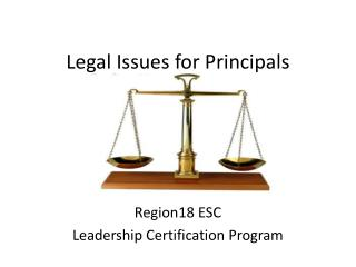 Legal Issues for Principals