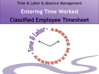 Time & Labor & Absence Management Entering Time Worked  Classified Employee Timesheet