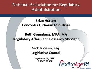 National Association for Regulatory Administration