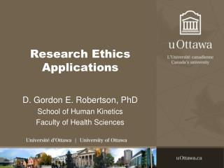 Research Ethics Applications