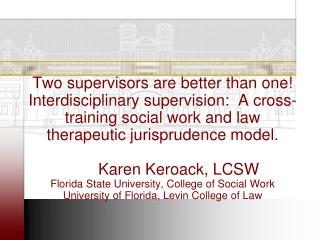 Unifying philosophy for social workers and lawyers