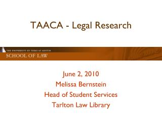 TAACA - Legal Research