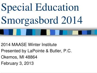 Special Education Smorgasbord 2014