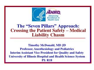"The "" Seven Pillars "" Approach: Crossing the Patient Safety – Medical Liability Chasm"