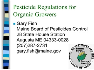 pesticide regulations for organic growers