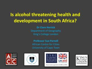 Is alcohol threatening health and development in South Africa?
