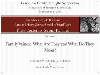 Center for Family Strengths Symposium University of Houston-Downtown September  8, 2011