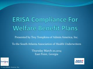 ERISA Compliance For Welfare Benefit Plans