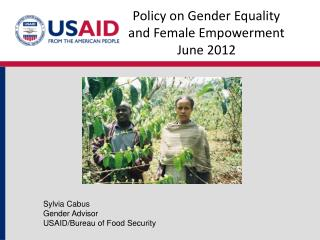 Policy on Gender Equality and Female  Empowerment June  2012