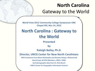 North Carolina Gateway to the World