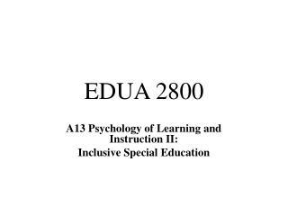 EDUA 2800