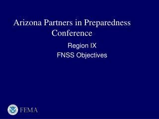 Arizona Partners in Preparedness Conference