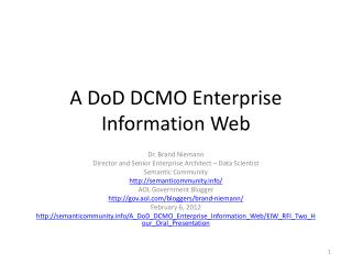 A DoD DCMO Enterprise Information Web