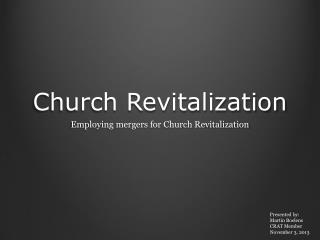 Church Revitalization