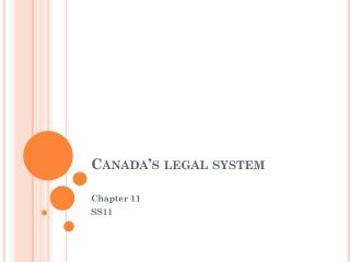 Canada's legal system