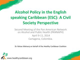 Alcohol Policy in the English speaking Caribbean (ESC): A Civil Society Perspective