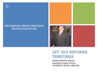 LEY 1607 REFORMA TRIBUTARIA