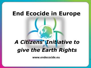A Citizens' Initiative to give the Earth Rights