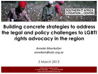 Building concrete strategies to address the legal and policy challenges to LGBTI rights advocacy in the region