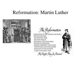 Reformation: Martin Luther