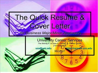 the quick resume  cover letter  for business major