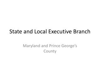 State and Local Executive Branch