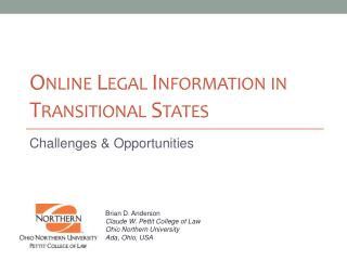 Online Legal Information in Transitional States