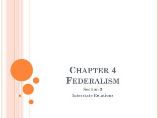 Chapter 4 Federalism