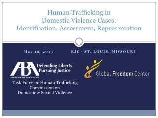 Human  Trafficking in  Domestic  Violence Cases:  Identification , Assessment, Representation