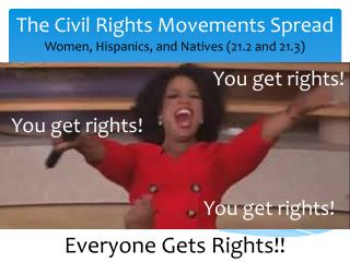 The Civil Rights Movements Spread