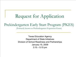 prekindergarten early start program pkes formerly known as prekindergarten expansion grant