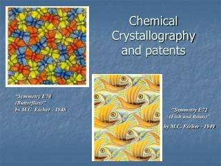 Chemical Crystallography and patents