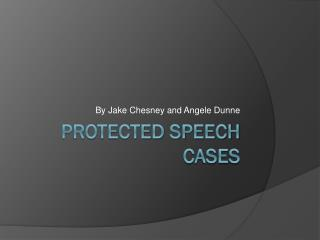 Protected Speech Cases