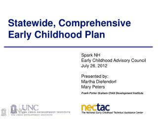Statewide, Comprehensive Early Childhood Plan