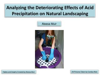 Analyzing the Deteriorating Effects of Acid Precipitation on Natural Landscaping