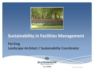 Sustainability in Facilities Management