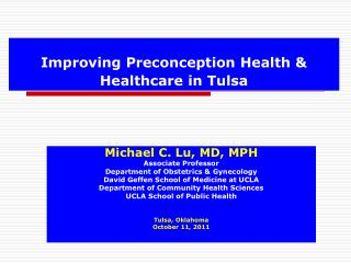 Improving Preconception Health & Healthcare in Tulsa
