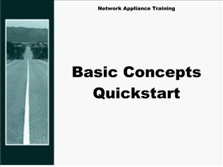 network appliance training        basic concepts quickstart