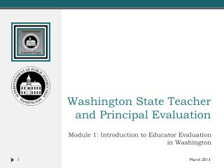 Washington State Teacher and Principal Evaluation