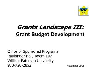 Grants Landscape III: Grant Budget Development