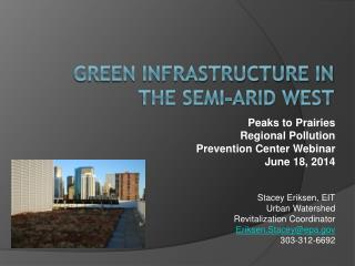 Green Infrastructure in the Semi-Arid West
