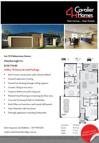Lot 35 Palmerston Street. Maryborough Vic. $310,739.00