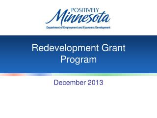 Redevelopment Grant Program