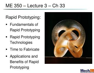 ME 350 – Lecture 3 –  Ch  33
