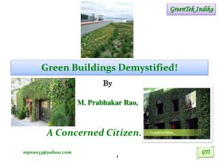 Green Buildings Demystified !