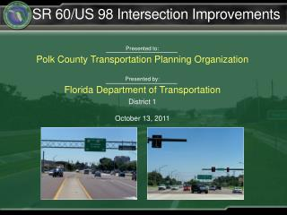 SR 60/US 98 Intersection Improvements